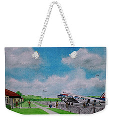 Lake Central Deplaning At Portsmouth Ohio Weekender Tote Bag by Frank Hunter