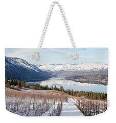 Lake Chelan In Winter Weekender Tote Bag