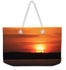 Lake Conroe Sunset Weekender Tote Bag by Ellen O'Reilly