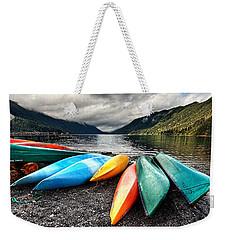 Lake Crescent Kayaks Weekender Tote Bag by Ian Good