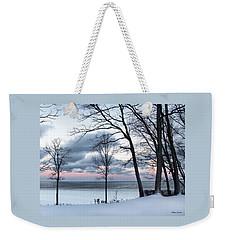 Lake Erie Sunrise Weekender Tote Bag