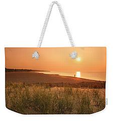 Lake Erie Sunset Weekender Tote Bag