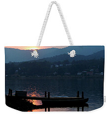 Lake J Sunset Weekender Tote Bag by Craig T Burgwardt