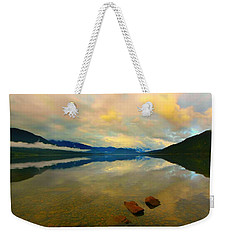 Weekender Tote Bag featuring the photograph Lake Kaniere New Zealand by Amanda Stadther