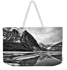Lake Louise - Black And White #3 Weekender Tote Bag