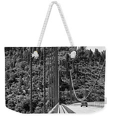 Lake Oroville Bridge Black And White Weekender Tote Bag