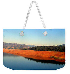 Weekender Tote Bag featuring the photograph Lake Reflections by AJ  Schibig