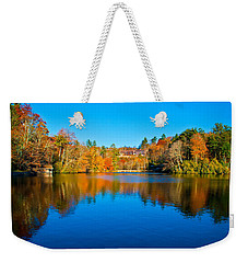 Weekender Tote Bag featuring the photograph Lake Reflections by Alex Grichenko