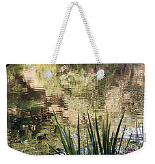 Weekender Tote Bag featuring the photograph Lake Reflections by Kate Brown
