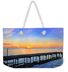 Lake Sunrise - Watercolor Weekender Tote Bag