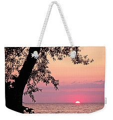 Lake Sunset Weekender Tote Bag by Aimee L Maher Photography and Art Visit ALMGallerydotcom