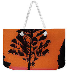 Weekender Tote Bag featuring the drawing Lake Sunset by D Hackett
