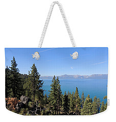 Lake Tahoe Through The Trees Weekender Tote Bag