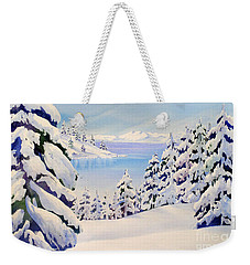 Lake Tahoe Winter Weekender Tote Bag