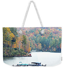 Lake Toxaway In The Fall Weekender Tote Bag