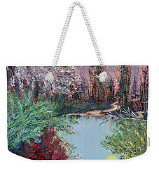 Lake Tranquility Weekender Tote Bag