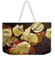 Lake Washington Lily Pad 11 Weekender Tote Bag