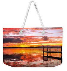 Lake Winnisquam Sunrise Weekender Tote Bag