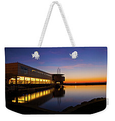 Weekender Tote Bag featuring the photograph Lakefront Sunrise by Jonah  Anderson