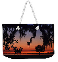 Lakefront Sunset Weekender Tote Bag by Charlotte Schafer