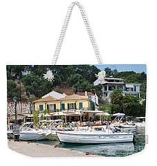 Lakka Harbour On Paxos Weekender Tote Bag