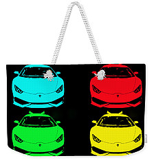 Lambo Pop Art Weekender Tote Bag