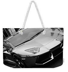 Black And White Shine Weekender Tote Bag