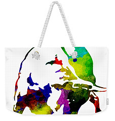 Lamborghini Bull Emblem Colorful Abstract. Weekender Tote Bag by Eti Reid