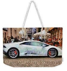 Lamborghini Huracane Lp 610-4 Parked In The City Weekender Tote Bag