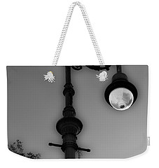 Weekender Tote Bag featuring the photograph Savannah Lamp Post by Frank Bright