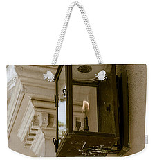 Weekender Tote Bag featuring the photograph Lamp Unto My Feet by Sennie Pierson