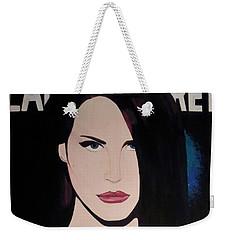 Lana Del Rey Blue Eyes Weekender Tote Bag