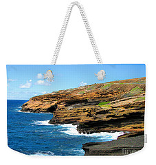 Weekender Tote Bag featuring the photograph Lanai Lookout by Kristine Merc