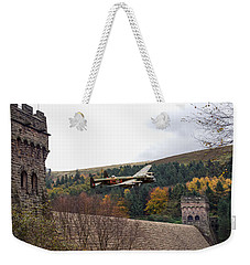 Lancaster Kc-a At The Derwent Dam Weekender Tote Bag