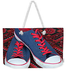 Lance's Shoes Weekender Tote Bag by E Faithe Lester