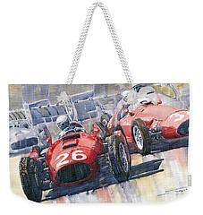Lancia D50 Alberto Ascari Monaco 1955 Weekender Tote Bag