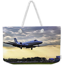 Landing At Sunrise Weekender Tote Bag