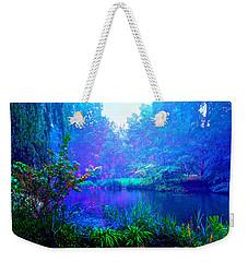 Blue Landscape Weekender Tote Bag