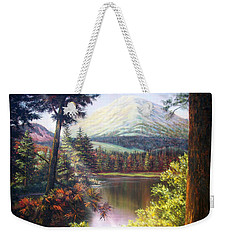 Landscape-lake And Trees Weekender Tote Bag by Loxi Sibley