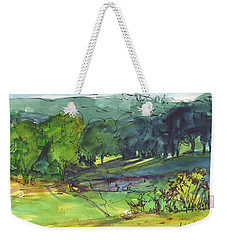 Landscape Lakeway Texas Watercolor Painting By Kmcelwaine Weekender Tote Bag by Kathleen McElwaine
