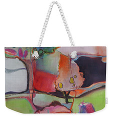 Weekender Tote Bag featuring the painting Landscape by Michelle Abrams