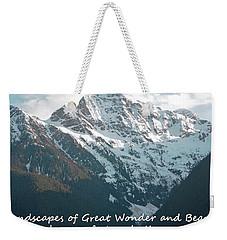 Landscapes Of Great Wonder  Weekender Tote Bag