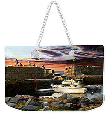 Lanes Cove Gloucester Weekender Tote Bag by Eileen Patten Oliver