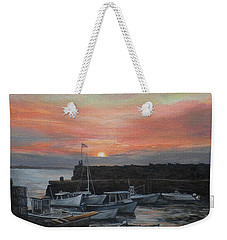 Lanes Cove Sunset Weekender Tote Bag by Eileen Patten Oliver