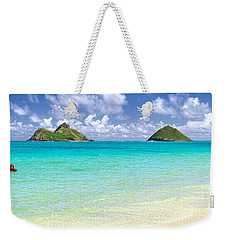Lanikai Beach Paradise 3 To 1 Aspect Ratio Weekender Tote Bag by Aloha Art