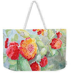 Lantana II Weekender Tote Bag by Marilyn Zalatan
