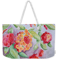 Lantana Weekender Tote Bag by Marilyn Zalatan