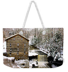 Lanterman's Mill In Winter Weekender Tote Bag