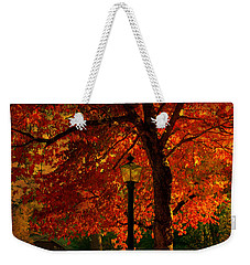 Lantern In Autumn Weekender Tote Bag