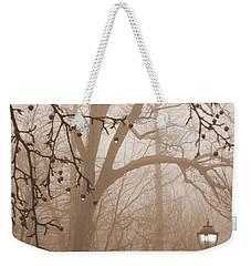 Weekender Tote Bag featuring the photograph Lantern In The Rain by Miriam Danar